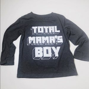 """Children's Place """"Total Mama's Boy"""" long sleeve T"""